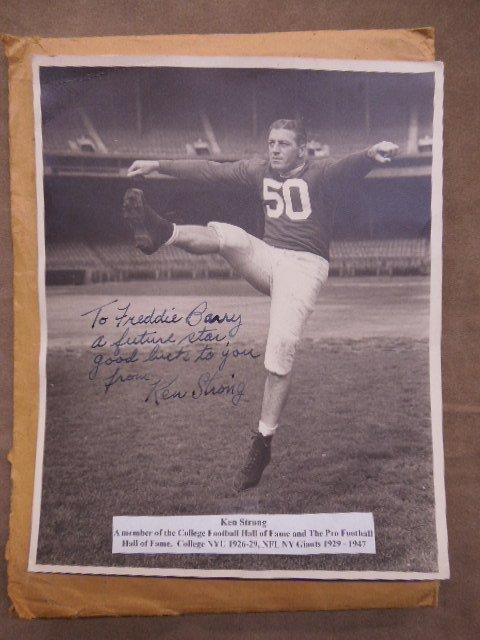 Framed 1957 Football Cards & Photo - 2