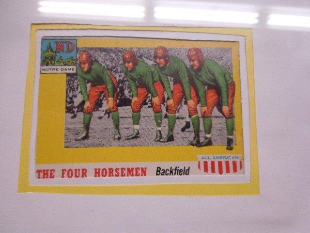 Framed 1957 Football Cards & Photo - 5