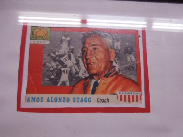 Framed 1957 Football Cards & Photo - 6