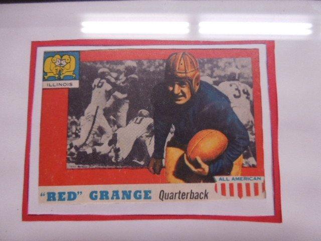 Framed 1957 Football Cards & Photo - 7