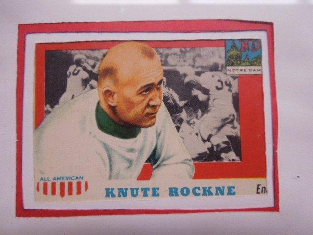 Framed 1957 Football Cards & Photo - 8