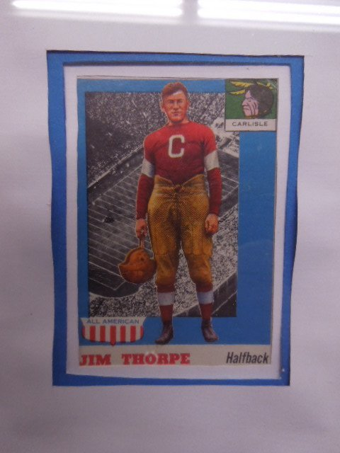 Framed 1957 Football Cards & Photo - 9