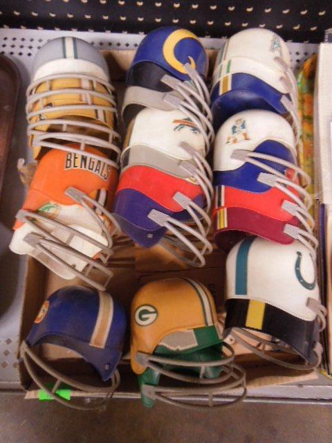 Miniature NFL Team Helmets Set