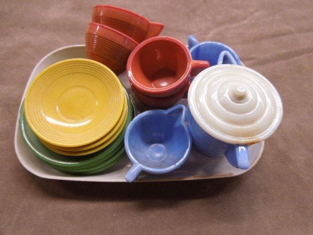 Akro Agate Child's Tea Set