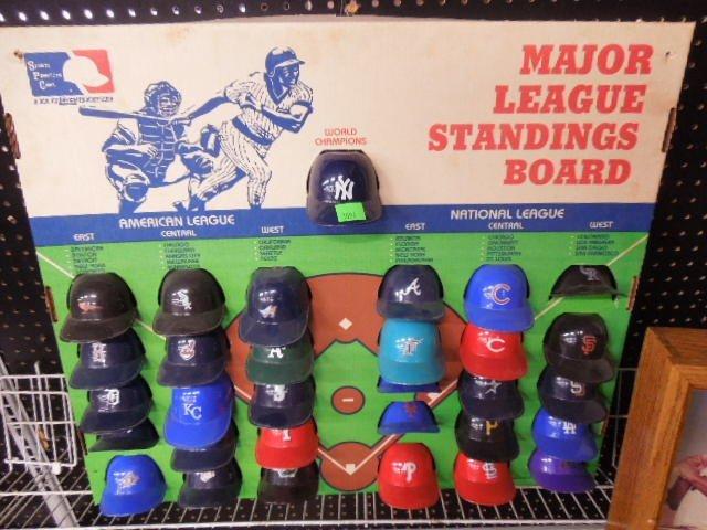 Miniature MLB Team Helmets Display