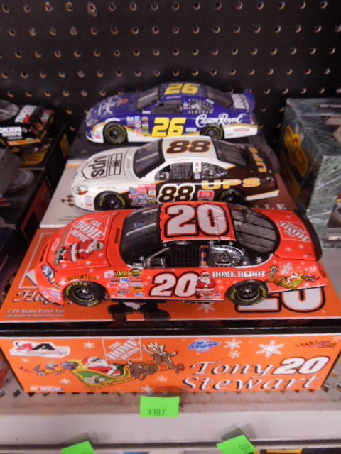 3 Diecast 1:24 Scale Stock Cars