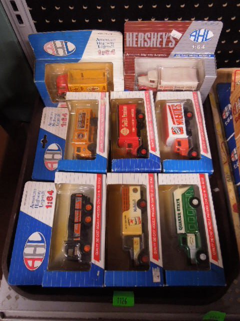 8 American Highway Legends Diecast Trucks