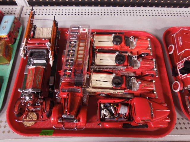 6 Die Cast Fire Trucks
