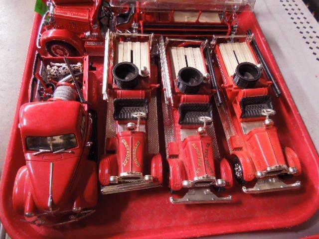 6 Die Cast Fire Trucks - 2