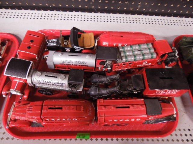 9 Texaco Die Cast Bank Vehicles