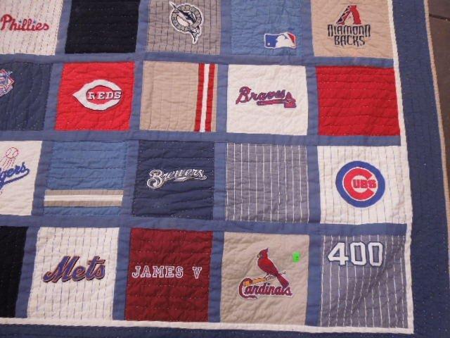 Quilt w/MLB Team Logos - 2