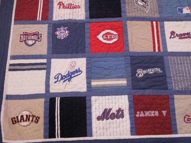 Quilt w/MLB Team Logos - 3