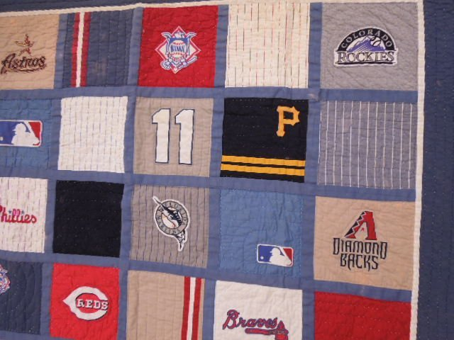 Quilt w/MLB Team Logos - 4