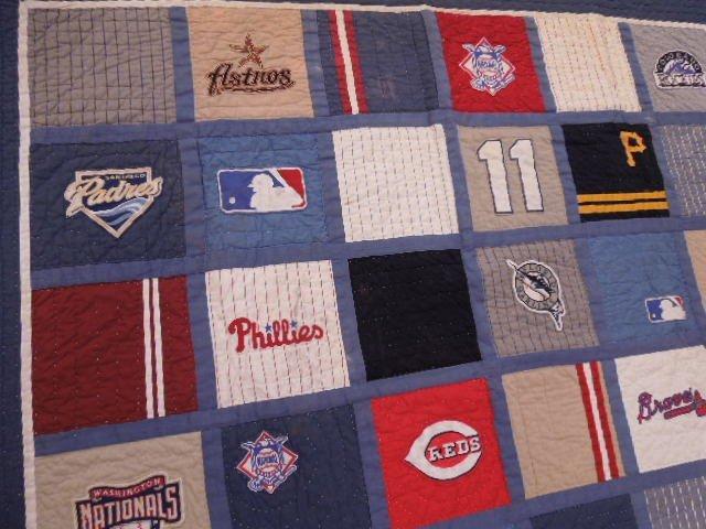Quilt w/MLB Team Logos - 5