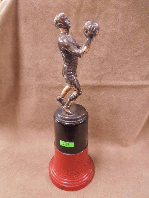 1930s Figural Basketball Trophy