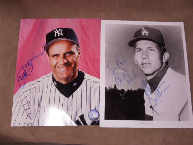 Baseball H.O. F. Player Signed Photos - 2