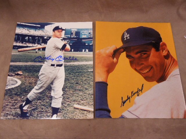 Baseball H.O. F. Player Signed Photos - 5