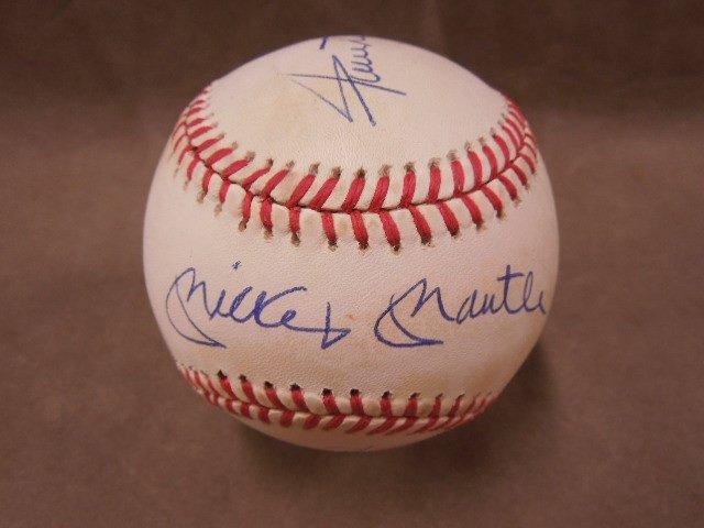 Mays & Mantle Signed Baseball