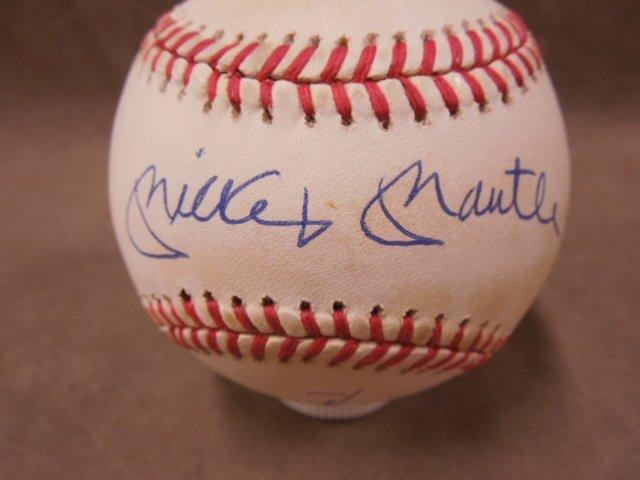 Mays & Mantle Signed Baseball - 2