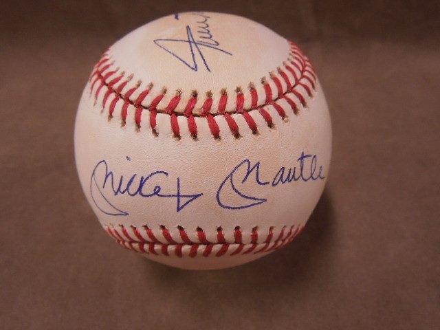 Mays, Mantle & Snider Signed Baseball