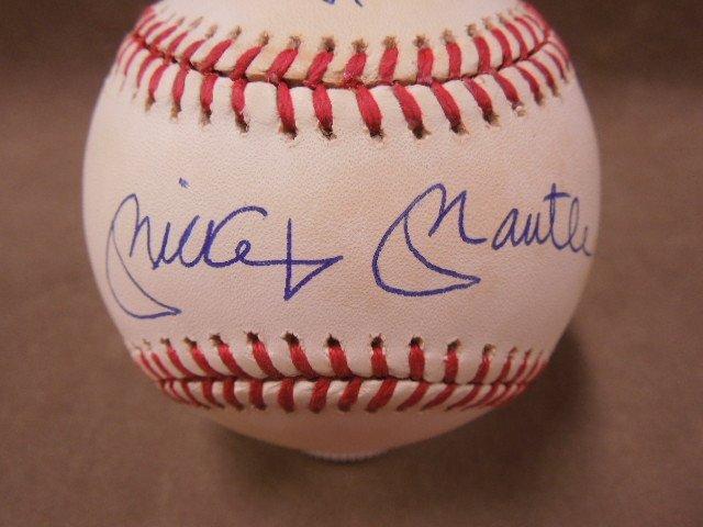 Mays, Mantle & Snider Signed Baseball - 2