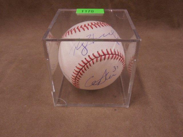 Hamels / Howard / Utley Signed Baseball