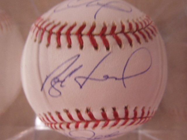 Hamels / Halladay / Oswalt Signed Baseball - 3