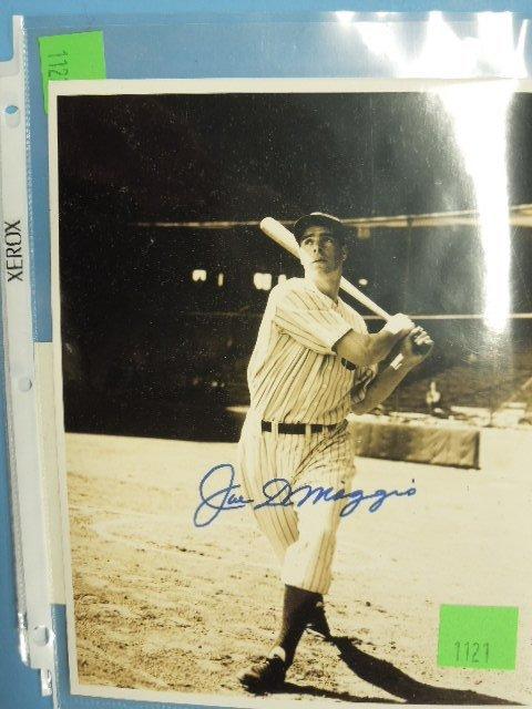 Signed Joe DiMaggio Photo