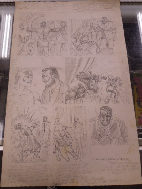 1970s Marvel Audition Pencil Page