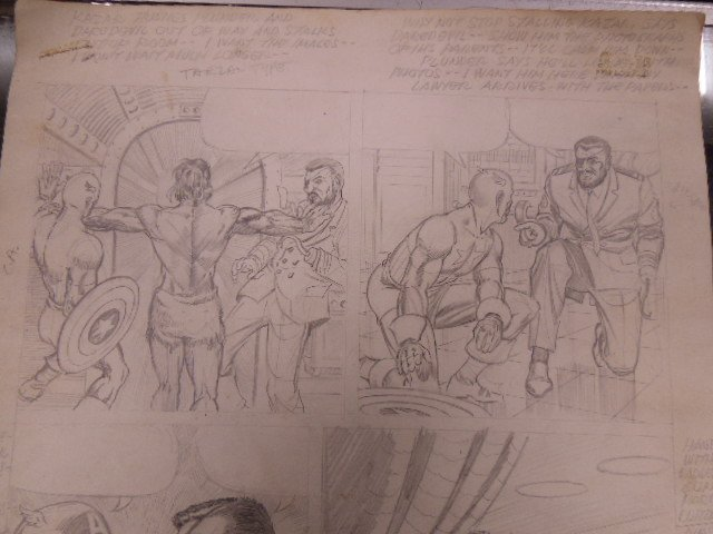 1970s Marvel Audition Pencil Page - 2