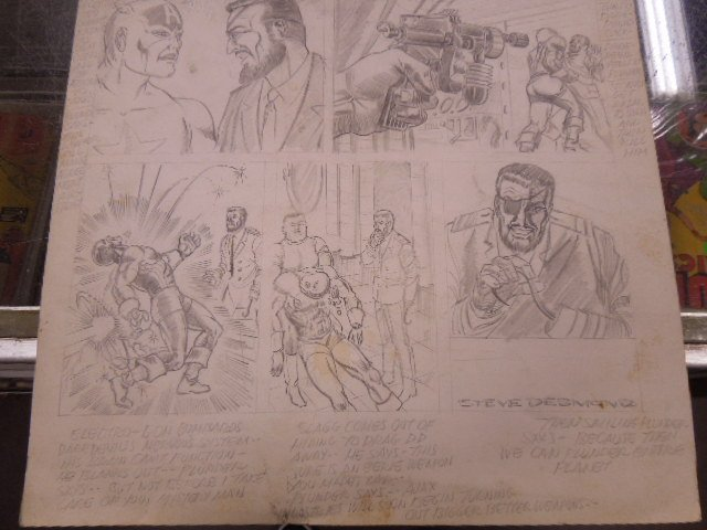 1970s Marvel Audition Pencil Page - 4