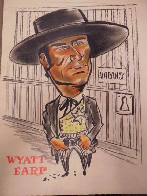 1960's TV Western Illustration Drawings - 9