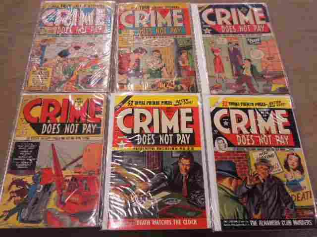 Lot of Crime Does Not Pay Comic Books