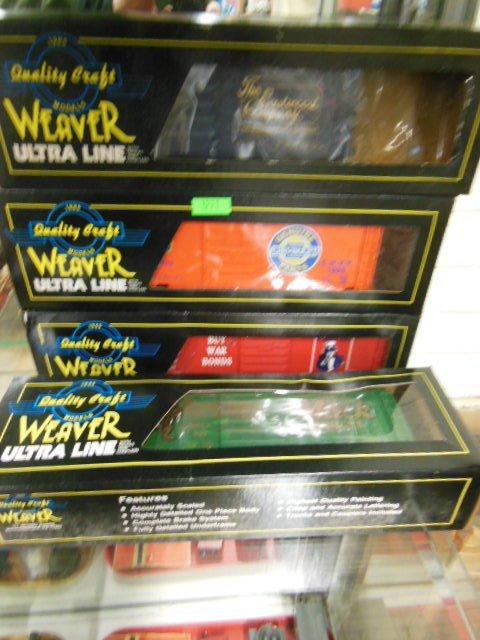 "4 Weaver ""O"" Gauge Boxcars"