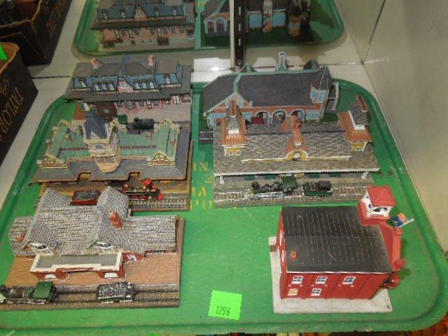 5 Danbury Mint Railroad Stations