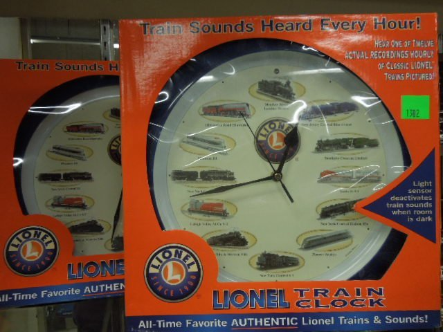 2 Lionel Train Clocks