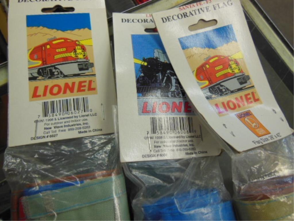 3 Lionel Decorative Flags - 2