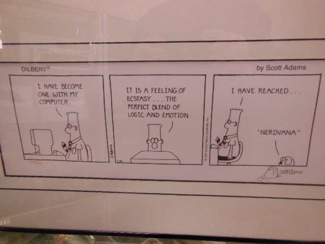 Framed Dilbert Comic strip