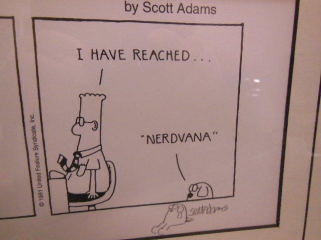 Framed Dilbert Comic strip - 3