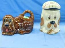 2 Ceramic Cookie  Biscuit Jars