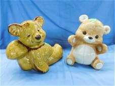 2 Bear Ceramic Cookie Jars