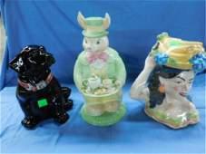 3 Ceramic Cookie Jars