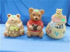 3 Bear Ceramic Cookie Jars
