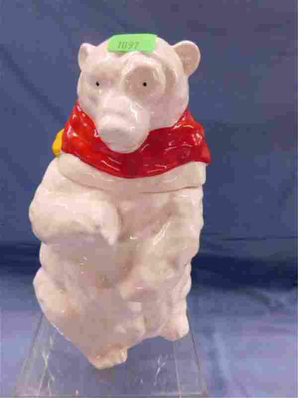 Polar Bear Ceramic Cookie Jar
