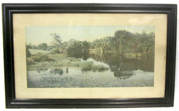 1007: Wallace Nutting, signed, 18 3/4h x 38 1/2w, photo