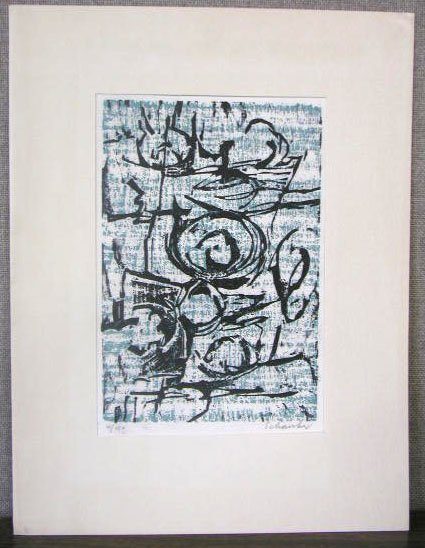 1016: [Louis Schanker, signed, 12 h x 9 w, woodcut in c