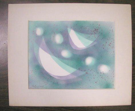 1019: Fritzie Abadi, signed, 15 3/8 h x 18 w, stencil p