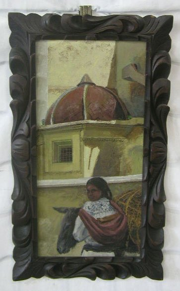 1021: J. Marquez, signed (incised), 15 1/2 h x 7 1/4 w,