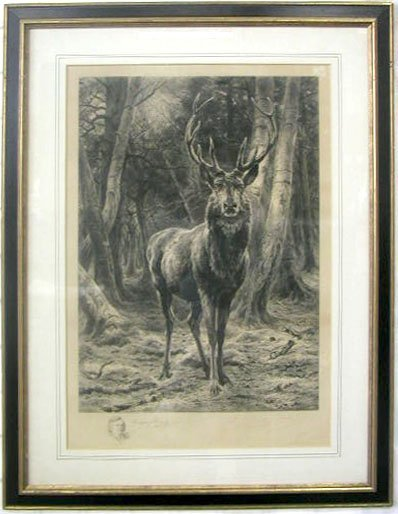 1022: Rosa Bonheur, 1878, signed & dated in plate, colo