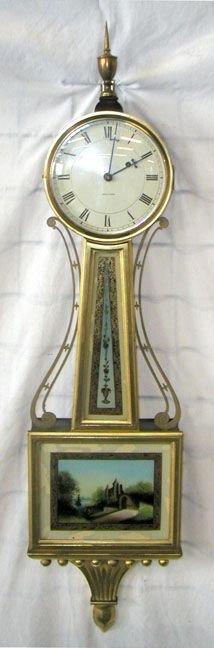 1074: Banjo Clock, Waltham, Mahogany